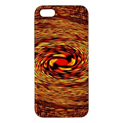 Orange Seamless Psychedelic Pattern Apple Iphone 5 Premium Hardshell Case