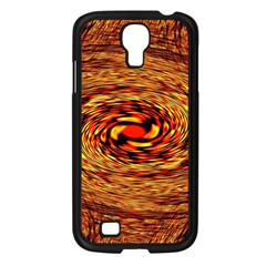 Orange Seamless Psychedelic Pattern Samsung Galaxy S4 I9500/ I9505 Case (black)