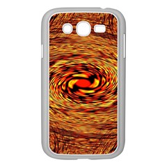 Orange Seamless Psychedelic Pattern Samsung Galaxy Grand Duos I9082 Case (white)