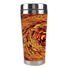 Orange Seamless Psychedelic Pattern Stainless Steel Travel Tumblers