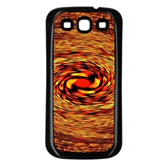 Orange Seamless Psychedelic Pattern Samsung Galaxy S3 Back Case (black)