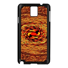 Orange Seamless Psychedelic Pattern Samsung Galaxy Note 3 N9005 Case (black)