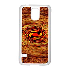 Orange Seamless Psychedelic Pattern Samsung Galaxy S5 Case (white)