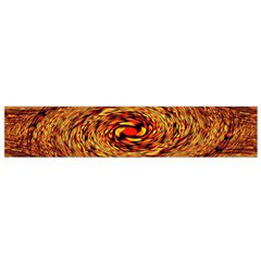 Orange Seamless Psychedelic Pattern Flano Scarf (small)