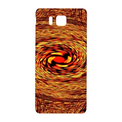 Orange Seamless Psychedelic Pattern Samsung Galaxy Alpha Hardshell Back Case
