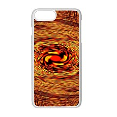 Orange Seamless Psychedelic Pattern Apple Iphone 7 Plus White Seamless Case