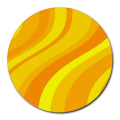 Orange Yellow Background Round Mousepads