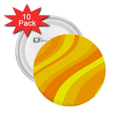 Orange Yellow Background 2 25  Buttons (10 Pack)
