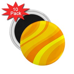 Orange Yellow Background 2 25  Magnets (10 Pack)