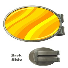 Orange Yellow Background Money Clips (oval)
