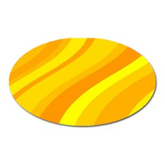 Orange Yellow Background Oval Magnet