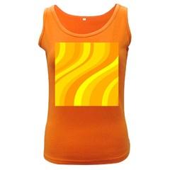 Orange Yellow Background Women s Dark Tank Top
