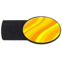 Orange Yellow Background Usb Flash Drive Oval (4 Gb)