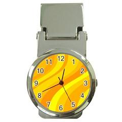 Orange Yellow Background Money Clip Watches