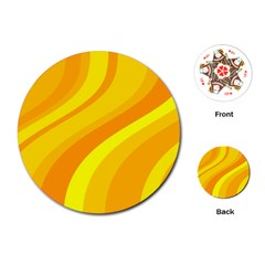 Orange Yellow Background Playing Cards (round)