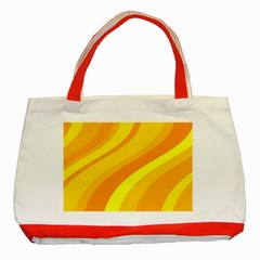 Orange Yellow Background Classic Tote Bag (red)