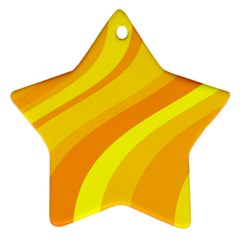 Orange Yellow Background Star Ornament (two Sides)