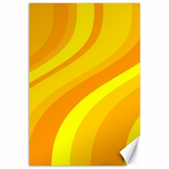 Orange Yellow Background Canvas 12  X 18