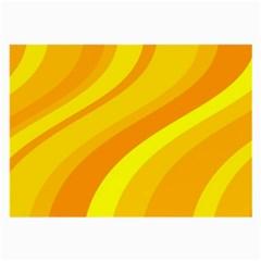 Orange Yellow Background Large Glasses Cloth