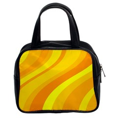 Orange Yellow Background Classic Handbags (2 Sides)