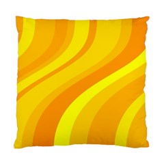 Orange Yellow Background Standard Cushion Case (one Side)