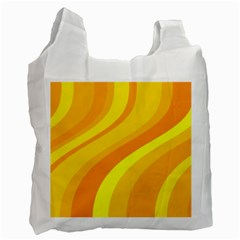 Orange Yellow Background Recycle Bag (two Side)