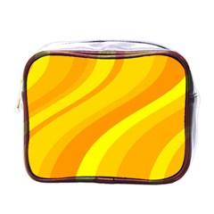 Orange Yellow Background Mini Toiletries Bags