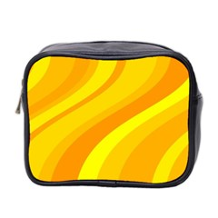 Orange Yellow Background Mini Toiletries Bag 2 Side
