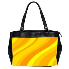 Orange Yellow Background Office Handbags (2 Sides)