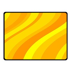 Orange Yellow Background Fleece Blanket (small)