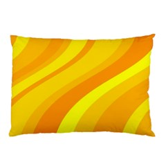 Orange Yellow Background Pillow Case (two Sides)
