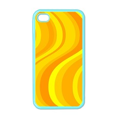 Orange Yellow Background Apple Iphone 4 Case (color)