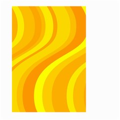 Orange Yellow Background Large Garden Flag (two Sides)