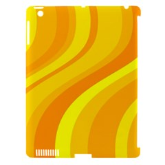 Orange Yellow Background Apple Ipad 3/4 Hardshell Case (compatible With Smart Cover)