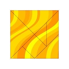 Orange Yellow Background Acrylic Tangram Puzzle (4  X 4 )