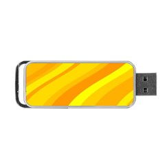 Orange Yellow Background Portable Usb Flash (two Sides)