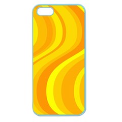 Orange Yellow Background Apple Seamless Iphone 5 Case (color)