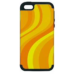 Orange Yellow Background Apple Iphone 5 Hardshell Case (pc+silicone)