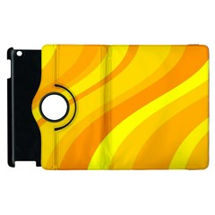 Orange Yellow Background Apple Ipad 3/4 Flip 360 Case