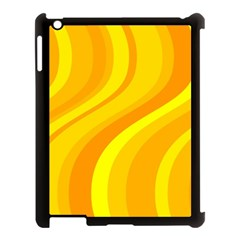 Orange Yellow Background Apple Ipad 3/4 Case (black)