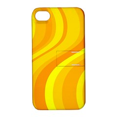 Orange Yellow Background Apple Iphone 4/4s Hardshell Case With Stand
