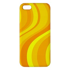 Orange Yellow Background Apple Iphone 5 Premium Hardshell Case