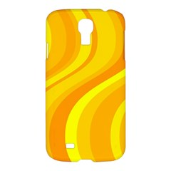 Orange Yellow Background Samsung Galaxy S4 I9500/i9505 Hardshell Case