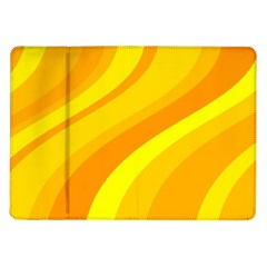 Orange Yellow Background Samsung Galaxy Tab 10 1  P7500 Flip Case