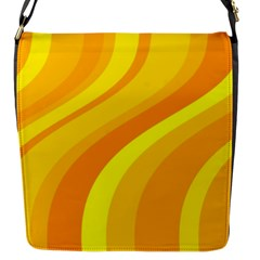 Orange Yellow Background Flap Messenger Bag (s)