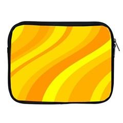Orange Yellow Background Apple Ipad 2/3/4 Zipper Cases