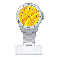 Orange Yellow Background Plastic Nurses Watch