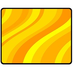 Orange Yellow Background Double Sided Fleece Blanket (medium)