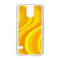 Orange Yellow Background Samsung Galaxy S5 Case (white)
