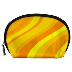 Orange Yellow Background Accessory Pouches (large)
